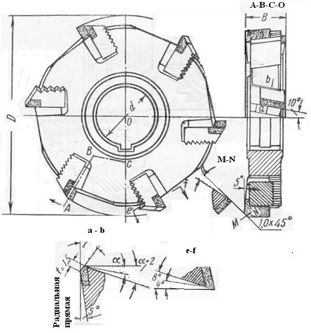 Трехсторонняя дисковая фреза