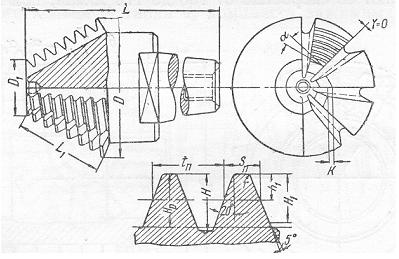 Червячная фреза для нарезания конических колес с криволинейными зубьями